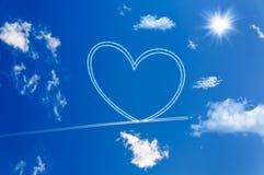 Coeur sur le ciel Photos stock