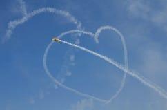 Coeur sur le ciel Photographie stock libre de droits