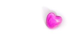Coeur sur le fond blanc Image libre de droits