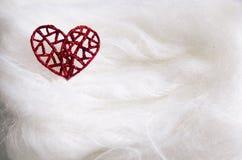 Coeur sur le fond blanc Photographie stock