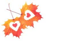 Coeur sur le fond blanc Concept de jour d'amour et de valentines Image libre de droits