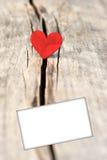 Coeur sur le fond en bois Concept de jour d'amour et de valentines Photo libre de droits