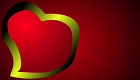 Coeur sur le fond rouge Photographie stock
