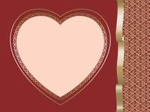 Coeur sur le fond rouge illustration libre de droits