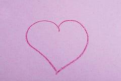 Coeur sur le papier Photo stock