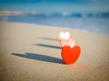 Coeur sur le rivage Photographie stock