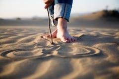 Coeur sur le sable Photographie stock libre de droits