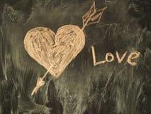 Coeur sur le tableau Image stock