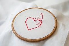 Coeur sur le tambour Image libre de droits