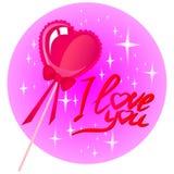 Coeur sur un bâton Image libre de droits