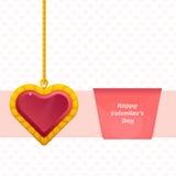 Coeur sur un Baner à chaînes Image libre de droits
