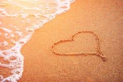 Coeur sur un envoi Images stock