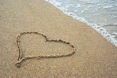 Coeur sur un envoi 1 Image stock