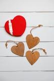 Coeur sur un fond en bois Coeur de l'amour Photo stock