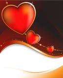 Coeur sur un fond pourpré Image stock