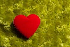Coeur sur un fond vert Photo libre de droits
