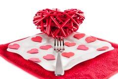 Coeur sur une fourchette Images libres de droits