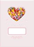 Coeur, symbole de l'amour, carte postale Image libre de droits