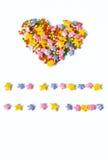 Coeur, symbole de l'amour, carte postale Images stock