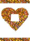 Coeur, symbole de l'amour, carte postale Photographie stock