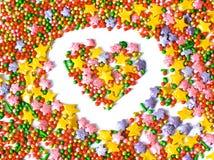 Coeur, symbole de l'amour, carte postale Photos libres de droits