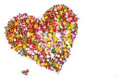 Coeur, symbole de l'amour, carte postale Photographie stock libre de droits