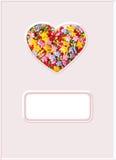 Coeur, symbole de l'amour, carte postale Images libres de droits