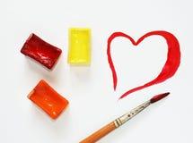 Coeur tiré Photographie stock libre de droits