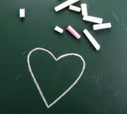Coeur tiré par la main Images libres de droits