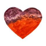 Coeur tiré par la main d'aquarelle Photographie stock libre de droits