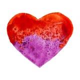 Coeur tiré par la main d'aquarelle Image stock