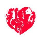 Coeur, tissu de marbre de pierre de texture Illustration de vecteur illustration stock