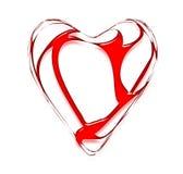 Coeur tordu et néon Photos libres de droits