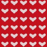 Coeur tricoté sans joint Photos libres de droits