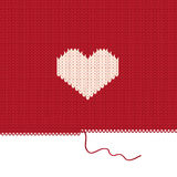 Coeur tricoté. Photographie stock