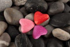 Coeur trois Photographie stock