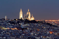 Coeur van Sacre bij legt van Montmartre, Parijs voor Stock Foto