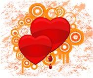 Coeur. Vecteur grunge illustration libre de droits