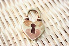Coeur verrouillé Photos libres de droits