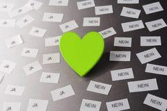 Coeur vert Photos libres de droits