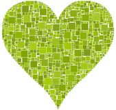 Coeur vert Photo stock