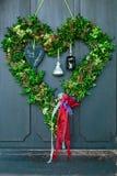 Coeur vert de l'amour Photographie stock libre de droits