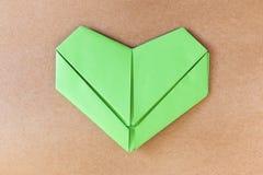 Coeur vert de papier Photo libre de droits