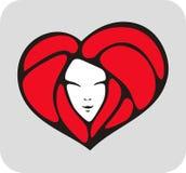 Coeur-visage Images libres de droits