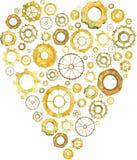 Coeur, vitesse, coeur de roue, amour d'affaires, illustration d'aquarelle illustration libre de droits