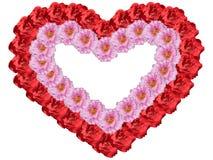 Coeur vue des fleurs Images stock