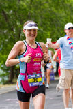 Coeurd' Alene Ironman lopende gebeurtenis Royalty-vrije Stock Foto's