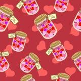 Coeurs à la banque illustration stock