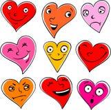 Coeurs émotifs Illustration Libre de Droits