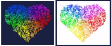 Coeurs abstraits d'arc-en-ciel Photo libre de droits